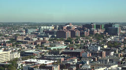 USA Maryland Baltimore panorama of northern city from above Footage