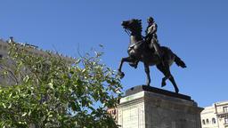 USA Maryland Baltimore La Fayette equestrian statue at Mount Vernon GIF