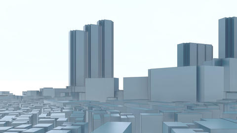 Tokyo city skyline abstract 3D animation Animation