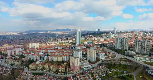 Aerial view Capital Of Turkey Ankara Live Action
