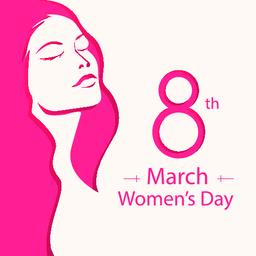 WOMAN DAY 8 MARCH Vector