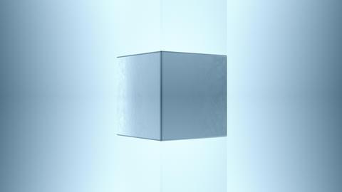 3D steel cube Animation