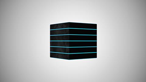 3D black cube Animation