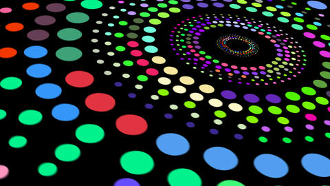 Abstract colorful polka dots pattern animation After Effects Template