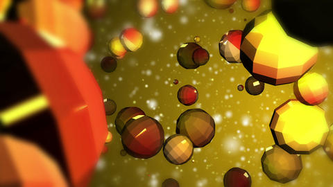 Abstract fantasy multi colored crystal particles evolving Animation