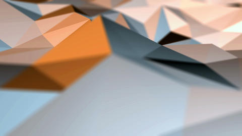 3D low poly shapes surface in motion Stock Video Footage