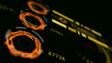 Abstract advanced technology control panel user interface Animation