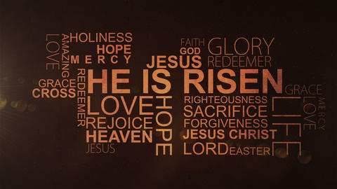 HE IS RISEN - Christian text CG動画素材