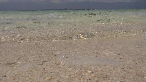 (4K)beautiful ocean Okinawa Japan / 瀬底ビーチの美しい海・沖縄 4K Footage