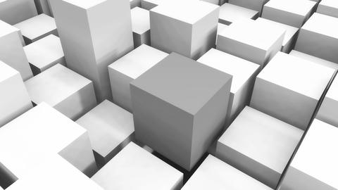 4k,abstract 3d white cubes animation background Live Action