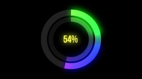4k,Science Futuristic Loading Circle Ring.Loading Transfer Download Animation ライブ動画