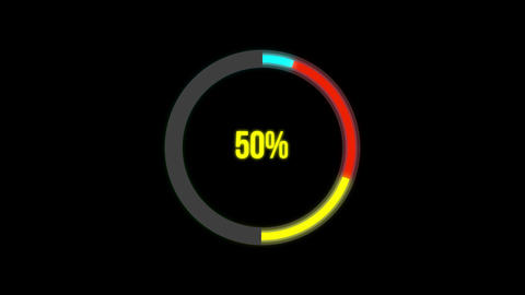 4k Science Futuristic Loading Circle Ring.Loading Transfer Download Animation ライブ動画