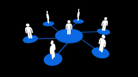 4k human icons,business teamwork,Social or Business Network,a group of people in Footage