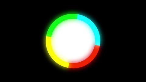 4k rotate color circle 影片素材