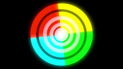 4k rotate color circle Filmmaterial