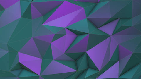 Turquoise-violet beauty low poly triangle background 영상물