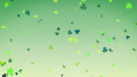 St. Patrick's day clover leaf background, looped Animation