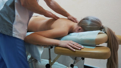 The girl at the massage Footage