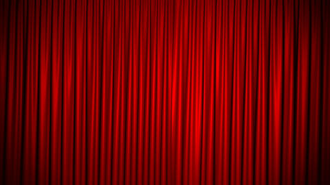 Curtain Red Silk Loop Background 4K Seamlessly Looped Closed Animation
