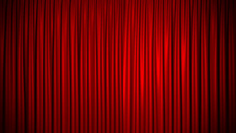 Curtain Red Silk Loop Background 4K Seamlessly Looped Closed Stock Video Footage