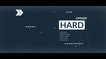 Hard Opener After Effects Template