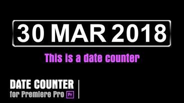 Calendar [DateCounter02] Premiere Pro Template