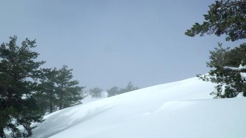 Sky over snowy hill Archivo