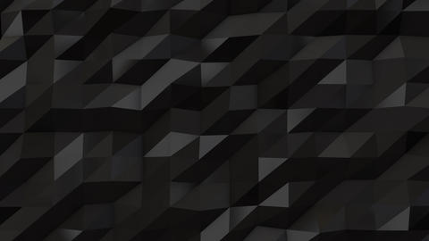 Black abstract low poly triangle background Animation