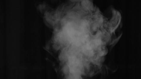 A jet of steam from the humidifier. White smoke Footage