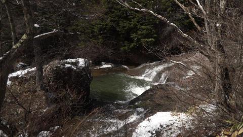 川 雪 日光 River Snow Nikko stock footage