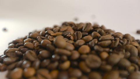 Coffee beans dropping Footage