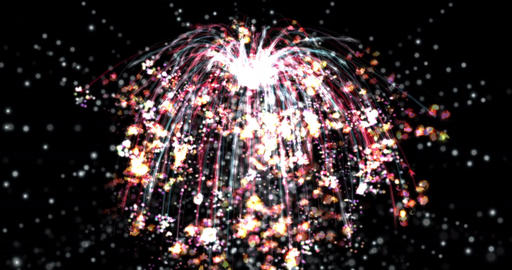 Digital Particle Animation of a Firework in 4K Animation