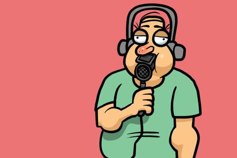 Sports Commentator Animation