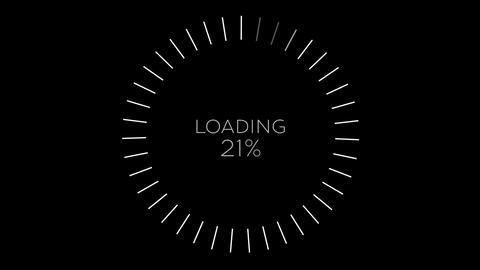 4K Computer Loading Sign Animation 12 Animation