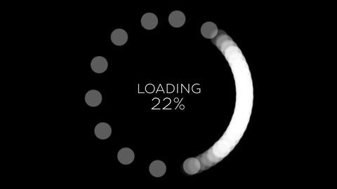 4K Computer Loading Sign Animation 18 Animation