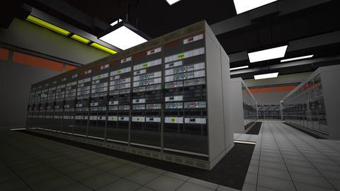 4K Data Center Server Room 3D Animation 1 Animation