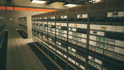 4K Data Center Server Room 3D Animation 10 Animation