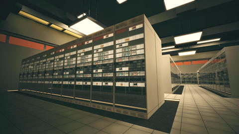 4K Data Center Server Room 3D Animation 2 Animation