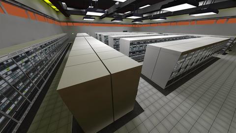 4K Data Center Server Room 3D Animation 3 Animation