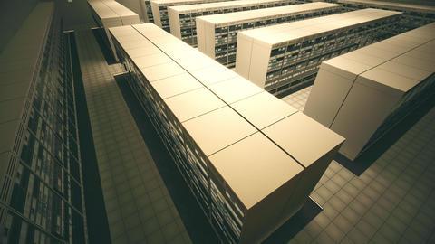 4K Data Center Server Room 3D Animation 6 Animation