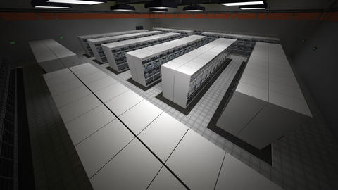 4K Data Center Server Room 3D Animation 7, Stock Animation