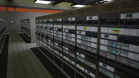 4K Data Center Server Room 3D Animation 9 Animation