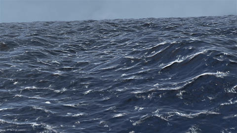 4K Simulation of Floating in Stormy Ocean Cinematic 3D Animation Animation