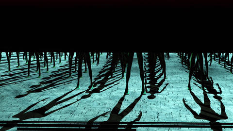 Aliens Reveal behind Spaceship Door 4 Animation