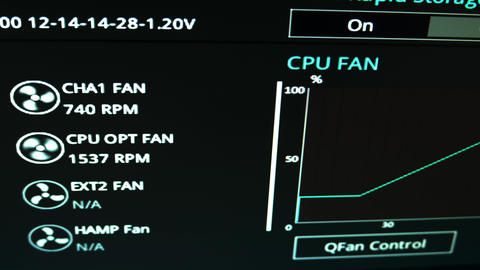 4K Computer System Monitor Fan Control 3 Live Action