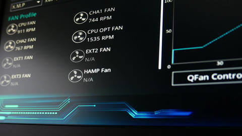 4K Computer System Monitor Fan Control 4 Footage