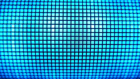 4K Grid Light Blue Led Light Effects Footage