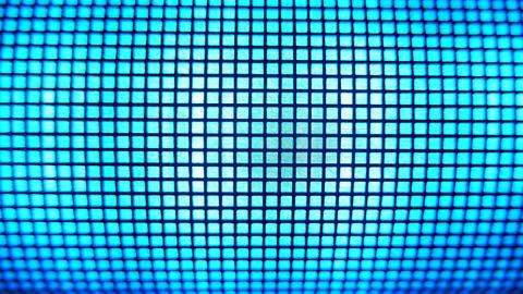 4K Grid Light Blue Led Light Effects Stock Video Footage