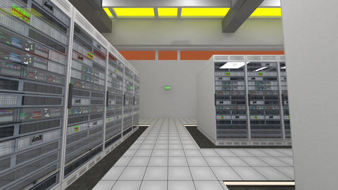 Data Center Server Room Cluster Farm 3D Animation 3 Animation