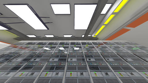 Data Center Server Room Cluster Farm 3D Animation 4 Animation